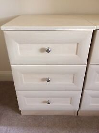 Bedside cabinets with 3 drawers (x 2)