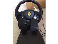 Boxed Thrustmaster Ferrari 458 Italia xbox 360 steering wheel