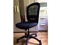 Black-coloured IKEA office chair