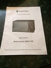 Russell Hobbs 17 Litre microwave oven