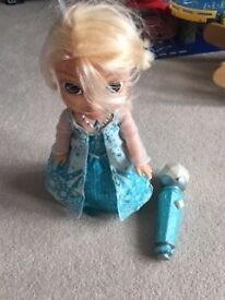 Frozen Doll with microphone