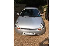 Silver low mileage Ford KA. Good looking car, only 37,500 miles.