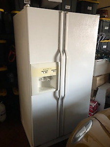 Kitchen Aid side by side refrigerator with ice maker/water