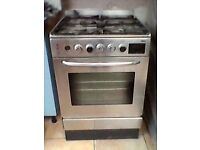 Oven, Zanussi, Gas rings, electric oven. One ring control broken, other wise good working order