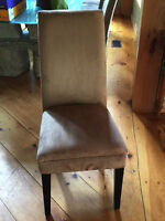 10 parsons chairs, sand coloured micro fibre