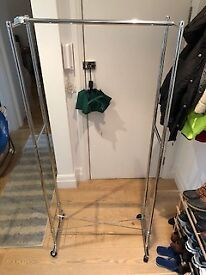 Silver Clothing/Garment Rack - Perfect Condition - £10