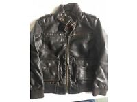 Leather jacket (Next faux leather) for age 4+