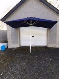 Garden Parasol Sun Shade Patio Outdoor Umbrella Canopy Blue