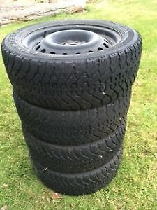 4-225/50R17 Good Year Nordic Winter Tires w Rims