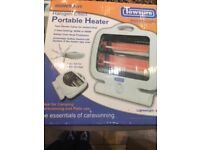 Portable heater ideal for camping electric