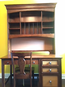 Pulaski Solid Wood Youth Desk, Hutch and Chair