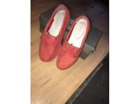 Timberland Women's Boat Shoes Earthkeepers Classic 2 Eye Red - Size 6uk