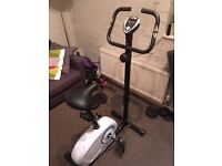 Crane (Aldi) Exercise Bike (barely used) with height and tension adjustment, plus digital displays