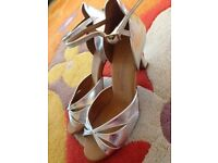 Silver dancing shoes/sandals