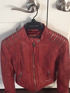 Red Leather Jacket for sale