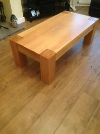Coffee Table Solid Oak 120x60x40cms