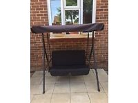 Black swing chair