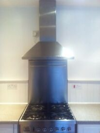 Freestanding stainless steel cooker.
