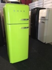 LOVELY LIME GREEN SMEG FAB30. WITH FULL WARRANTY. CAN DELIVER/view.