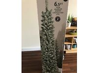 Next Slim Alaskan snowy Christmas tree