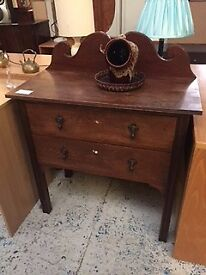 Dark wood chest of drawers at Cambridge Re-Use (reuse)