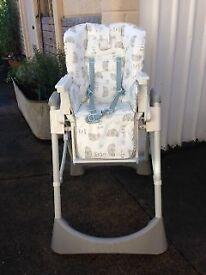 White baby high chair