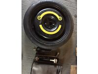 Space saver spare for VAG car (ex seat Leon) with jack, etc.