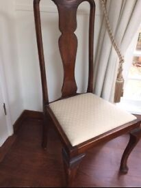 Antique Hardwood Occasional Chair