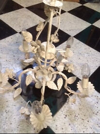 LAURA ASHLEY new unused 'Bramley' Cream Chandelier 5 Arm