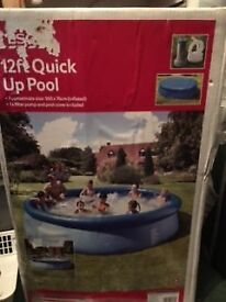 12 ft swimming pool with filter pump £40