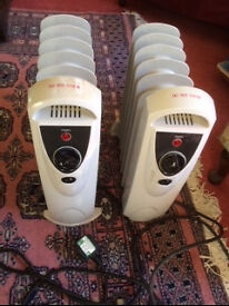 Two Currys Mini Oil Filled Electric Portable Heaters 700W £25 for both