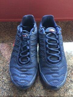 vflnl Nike Air Max 1 Tn Midnight Navy Red Gym Blue Junior Trainers Size