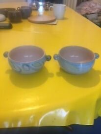 Two small matching Denby bowls excellent condition