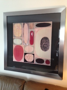 LARGE CONTEMPORARY FRAMED PRINT