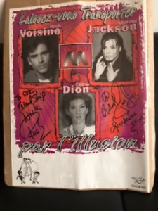 Signed Poster Celebrity Impersonators French Michael  Jackson...