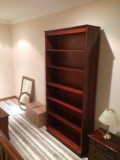Dark wooden bookcase