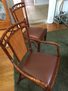 6 Dining Room Chairs from Grange- 2 with arm rests