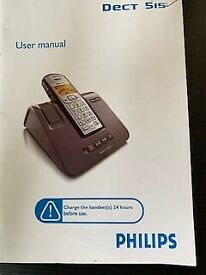 Philips Dect Phone and Answering machine, used but in VG condition