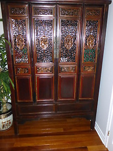 Antique Chinese: armoire-Armoire: antiquité Chinoise