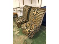 Pair of ornate chairs
