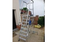 Incredibly robust industrial ladders with Platform.