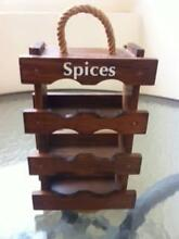 1 3-Level Dark Wood Spice Rack Matraville Eastern Suburbs Preview