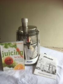 JUICELADY JUICER MANUAL AND BOOK