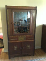 Antique buffet & china cabinet