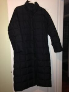 Black Down filled below Winter coat