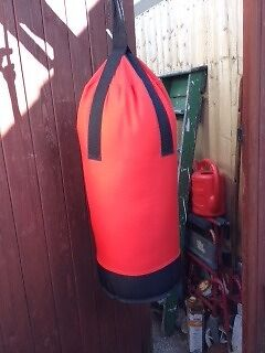 Punch bag for children over 6keep fit adults, good cond. w/fittings15, Southbournein Bournemouth, DorsetGumtree - Punch bag, good condition for children aged 6 and over & keep fit adults, ideal for fitness regime or just to release tension, bright red & black with strap fittings for support, EKORRE brand from IKEA, 23 inches tall, 33 inch circumference, get fit!...