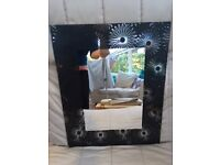 Black decorative mirror and '9 circles' mirror for sale together or separately