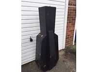 old wooden cello case for full sized cello