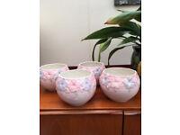 Ceramic House pot plant holders- 5 off