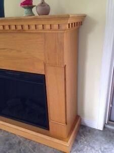 NEW PRICE ---Oak Fireplace Sarnia Sarnia Area image 2